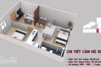 Cần tiền bán gấp căn 10A, dt 55,56m2, tầng trung view đẹp, nhận nhà ở ngay. LH 0941 878 833