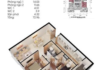 Cho thuê căn hộ Topaz City 74m2, hướng Đông Nam mát mẻ 8 triệu/tháng. LH: 0907700004