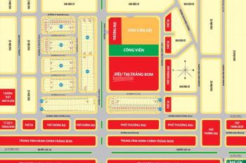 Bán đất nền, nhà mặt phố ngay khu trung tâm hành chính Trảng Bom, Đồng Nai, giá từ 1,368 tỷ/lô