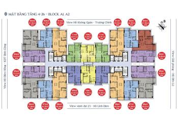0989582529 CC bán CH Sky Central 176 Định Công, DT 64,7m2, 66,3m2, 80,7m2, 91,9m2, từ 27 tr/m2