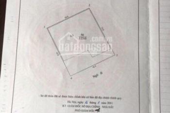 Bán đất diện tích 123m2, mặt tiền 10m, khu Xóm Chùa, Quảng An, Tây Hồ, Hà Nội: 0981222026