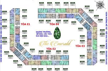 Gia đình tôi bán gấp CHCC E1.15 - 12 (77,7m2) và 15 - 11 (99,2m2) dự án The Emerald, giá 30tr/m2
