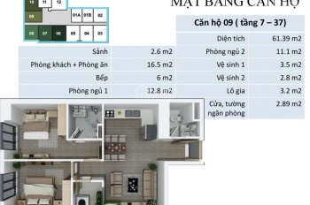 Do COVID Nên Cắt Lỗ CH FLC Quang Trung 1508(76m2)-1809 (61m2)-1910(93m2) giá rẻ 19tr/m2, 0989582529