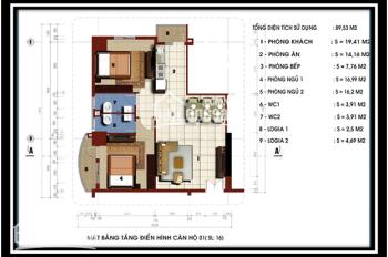 Bán căn hộ 2PN diện tích 85m2 giá 1,17 tỷ tại chung cư BCA 79 Thanh Đàm, Thanh Trì