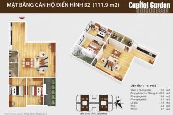 Ban quản lý tòa Capital Gaden 102 Trường Chinh cho thuê căn 2,3,4 PN giá 10 - 12tr/th, 0968325325
