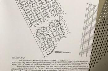 Bán lô đất đấu giá 87.7m2, MT 8.5m ở Thượng Thanh, Long Biên, giá chỉ 59tr/m2