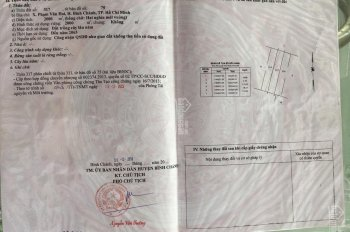 Chính chủ bán đất công sổ đỏ riêng giá 3 tỷ/1000m đường An Hạ, xã Phạm Văn Hai, Bình Chánh