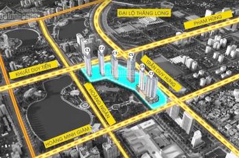 Bán căn góc 3PN dự án D'Capitale, DT: 91m2, view hồ điều hòa, giá 4,350 tỷ, nội thất chủ đầu tư