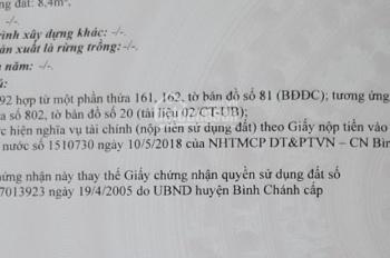 Chính chủ bán đất Vĩnh Lộc A, 3,3 tỷ, LH 0903703204