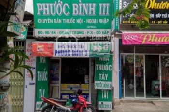 Bán nhà thuốc tây, mặt tiền ngay trường THPT Nguyễn Công Trứ, Gò Vấp. Dt 42m2, giá 2,75 tỷ
