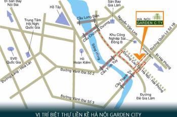 Mở bán đợt cuối 49tr/m2 biệt thự Garden City hoàn thiện, miễn phí dịch vụ, vay ưu đãi: 0966.100.509