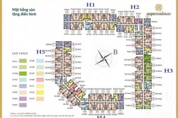Anh Khu bán lại căn hộ 03 - H4, view nội khu chung cư Hope Residence, giá 1.3tỷ. LH 0961436488