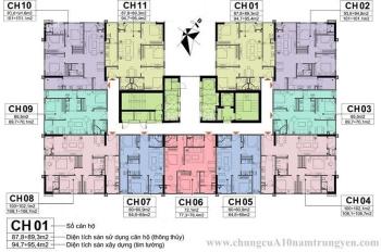 Bán căn 04 và 08 ( 102m2) 3 phòng ngủ tòa CT1 chung cư A10 Nam Trung Yên, Cầu Giấy