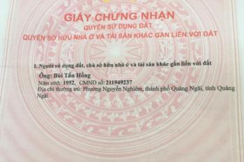 Bán đất trung tâm TP Quảng Ngãi - 0842775032