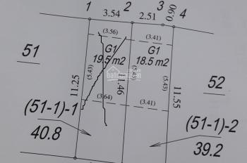 Bán đất ngõ 139 Hoa Lâm 39.2m2, hướng Đông Nam, nở hậu giá 1,76 tỷ
