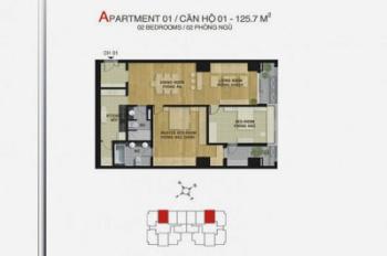 Bán chung cư MIPEC 229 Tây Sơn, 125m2, 3PN, 2WC, 34 tr/m2