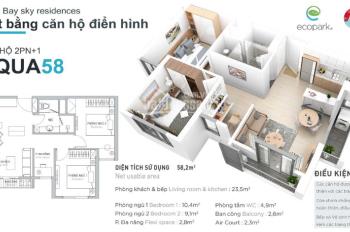 Căn hộ Ecopark cho thuê giá chỉ từ 4tr/th rẻ nhất thị trường, hotline: E Huyền 0973763185