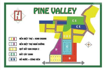 Đất khu biệt thự Pine Valley mặt tiền Lý Thường Kiệt, trung tâm Bảo Lộc chỉ 5tr/m2, nh hỗ trợ