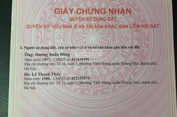 Chính chủ bán nhà 5 tầng giá 2.75 tỷ SN 60C ngõ 90/2 tổ 19 Phố Khuyến Lương, P Trần Phú, Hoàng Mai