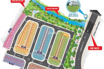 Đất mặt tiền ĐT 742, ngay cổng Vsip 2, đường nhựa 15m, giá chỉ từ 1 tỷ/nền