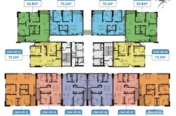 Cần bán căn hộ 1812, DT 73,5m2 chung cư Smile Building C46 Định Công giá 1.9 tỷ bao phí. 0971866612