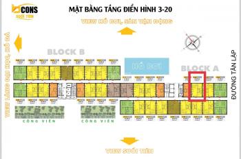Bcons Suối Tiên, căn 2PN 2VS, tầng đẹp - 0934040703
