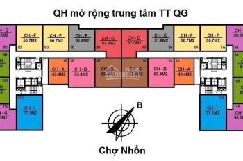 5 suất chọn căn cuối cùng DT 51 - 65m2, dự án NOXH NHS Phương Canh. Giá 16tr/m2, LH 0982726226