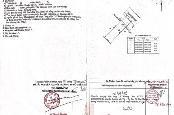 Chính chủ bán đất có nhà cấp 4, diện tích 868m2 mặt tiền Tỉnh Lộ 15, xã An Phú, Củ Chi