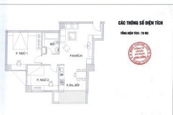 Chinh chủ cho thuê căn hộ B4 Phạm Ngọc Thạch 2 ngủ đầy đủ nội thất 13tr/th. LH: 0988.151.785