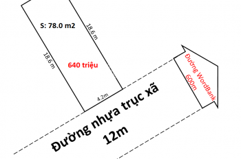 Bán đất mặt đường trục Tri Yếu - Xã Đặng Cương - An Dương