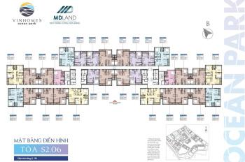 Chỉ 1.23 tỷ sở hữu ngay căn hộ 1PN + 1 toà S2.06 - Vinhomes Ocean Park, bao phí chuyển nhượng