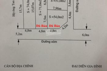 Bán đất thổ cư phân lô tại thôn Xích Thổ, xã Hồng Thái, An Dương, Hải Phòng