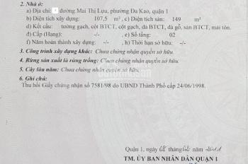 DT 8x20m công nhận 157m2 (Xem hình) giá 23 tỷ. Bán nhà C4 Đa Kao, Quận 1