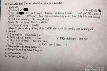 Bán nhà quận 1, 2 mặt tiền Trần Quý Khoách giá 57 tỷ, 177m2
