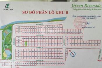Đất nền Green Riverside Huỳnh Tấn Phát 80m2 giá tốt 40tr/m2 lô đẹp gần phía ngoài CV. LH 0984975697