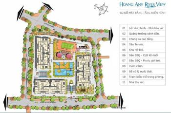 Bán căn hộ lầu thấp Hoàng Anh Rever View Thảo Điền Quận 2. Diện tích 162m2, giá 30 triệu/m2