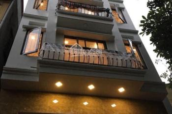 Cho thuê nhà mới xây làm VP phố Ngọc Lâm 80m2 x 5 tầng, MT 7m, đã có điều hòa âm, thang máy