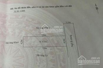 Cần bán lô đất 63m2 mặt ngõ to 4m đường Đằng Hải - Hải An - HP, giá 23,5 triệu/m2. LH 0936776882