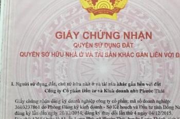 Đất biệt thự Chợ Phước Thái, 10x19m, bao sang tên chính chủ