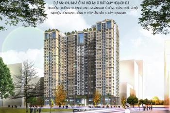 Thông báo 3 suất mua căn góc 59m2, ban công Đông Nam cuối cùng tại NHS Phương Canh. LH 0988.563.234