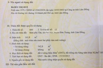 Chính chủ cần bán đất nhà vị trí đẹp, ở Phú Hội, Đức Trọng, Lâm Đồng.