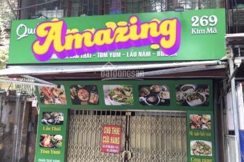 Cho thuê cửa hàng mặt phố Kim Mã, quận Ba Đình, Hà Nội