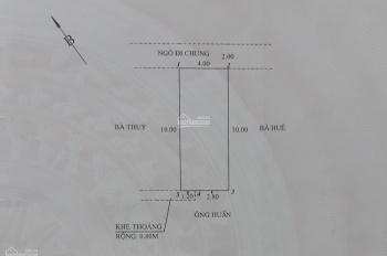 Bán đất ngõ 229 Miếu Hai Xã (thông ngõ 440 Chợ Hàng Mới), Dư Hàng Kênh, Lê Chân, Hải Phòng