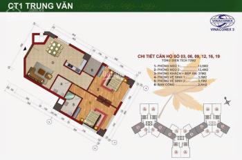 Cần bán gấp căn hộ 2 phòng ngủ ở Vinaconex 3 Trung văn, full đồ với giá 1,8 tỷ. LH: 0918683992