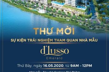 Duy nhất căn hộ D'Lusso tầng thấp view Đông Nam DT 68.5m2 2PN giá 3,67 tỷ, tặng kèm vàng, nội thất