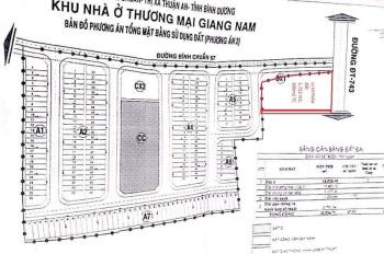 Bán đất lô góc 3 mặt tiền DT743 và Bình Chuẩn 67, Thuận An, Bình Dương. DT: 1.713m2