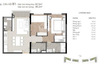 Cần bán căn hộ Sarimi 2PN - 88m2, view Bitexco, tầng cao, giá rẻ nhất thị trường chỉ 6,9 tỷ