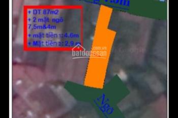 Nhà đất 2 mặt ngõ to như phố - Núi Trúc - 87m2 - Giá 17 tỷ