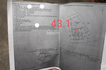 Cần bán gấp mảnh đất, vị trí đẹp tại P. Thạch Bàn, DT: 43.1m2, mặt tiền: 3.60m, hậu 3.6m, ô tô đỗ