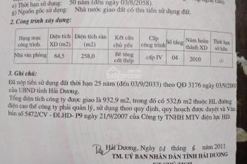 Cần bán đất thương mại đường Nguyễn Lương Bằng, TP. Hải Dương